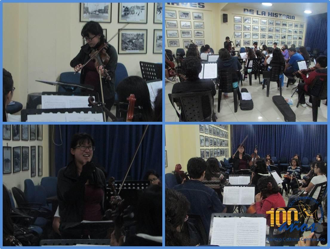 Jessica Ling en clase maestra la OSIJCH