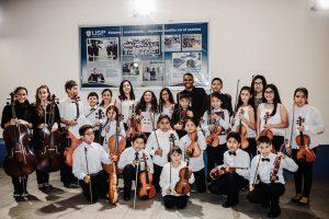 Orquesta Sinfónica Infantil Juvenil de Chimbote en Concierto en homenaje al 111 Aniversario de Chimbote