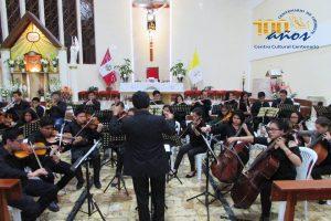 Concierto de la Orquesta Sinfónica Infantil Juvenil de Chimbote OSIJCH por el Aniversario de la Parroquia San Carlos Borromeo