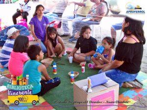 Biblioteca Itinerante visita Playa El Dorado 3a fecha
