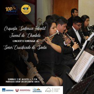 Orquesta Sinfónica Infantil Juvenil de Chimbote OSIJCH dará concierto en Homenaje al Señor Crucificado de Santa