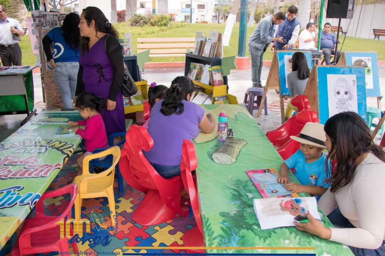 La Biblioteca Itinerante en la Feria de Naciones