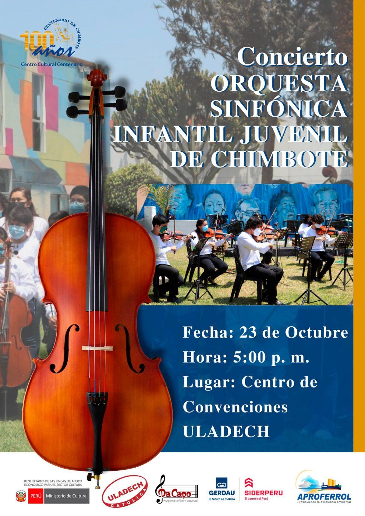 Orquesta Sinfónica Infantil Juvenil de Chimbote ofrecerá concierto presencial luego de casi dos años de difíciles circunstancias de estar lejos de los escenarios